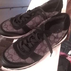 Black coach sneakers 8